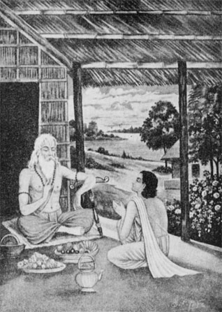 A guru and disciple