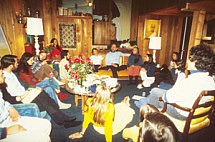 Satsang at Swami's home