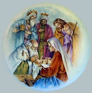 The Three Wise Men Adore the Christ Child