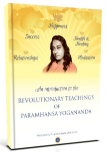 Yogananda teachings introduction on meditation, success, happiness, relationships and love, health and healing. Receive the ebook at no cost.