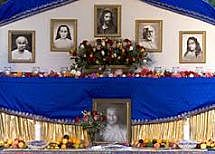 Yogananda altar: Vow of Discipleship for Path of Kriya Yoga