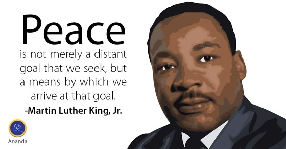 Be The Change Martin Luther King Jr Ananda