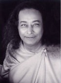 Paramhansa Yogananda looking directly at you